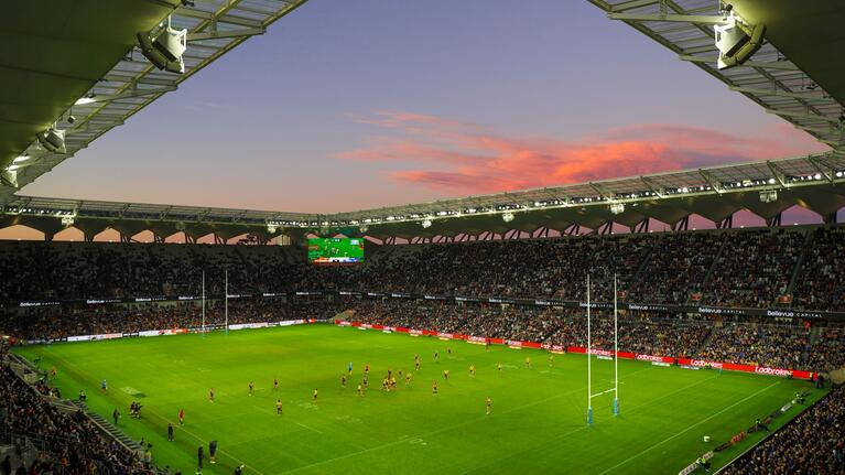 Parra Eels Bankwest Stadium twilight
