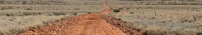 Corner Country outback dirt road