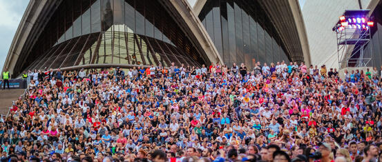 Australia Day crowds Opera House