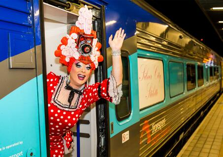 Maude Boat on board NSW TrainLink Silver City Stiletto